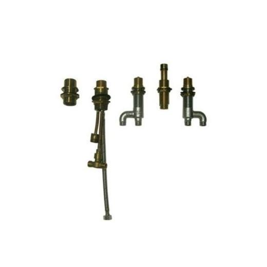 Deck-Mount Bath Faucet with Lever Handles