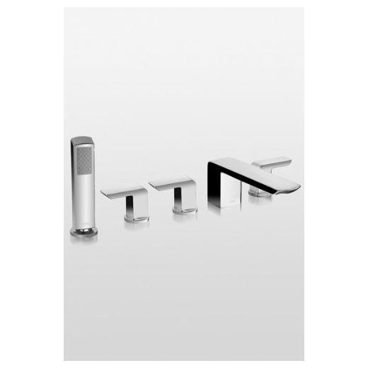 Soiree Deck-Mount Bath Faucet with Lever Handles