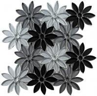 Tile Bouquette Floral Greys BQT671