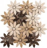Tile Bouquette Chestnut Blossoms BQT672