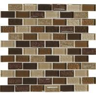 Crystal Shores Copper Coast 2 x 1 Brick-Joint Mosaic CS97