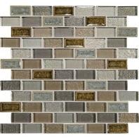 Crystal Shores Sapphire Lagoon 2 x 1 Brick-Joint Mosaic CS95