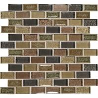 Crystal Shores Aurelain Seas 2 x 1 Brick-Joint Mosaic CS98