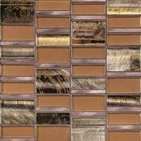 Tiger Eye Siberian Copper 3'' x Random Block Mosaic TE31