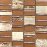 Tiger Eye Sumatran Copper 3'' x Random Block Mosaic TE34