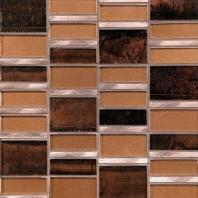 Tiger Eye Java Copper 3'' x Random Block Mosaic TE35