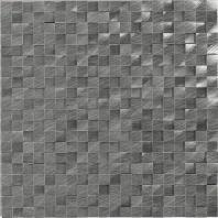 Structure Steel Gunmetal 1/2 x 1/2 3D Cube Mosaic ST72