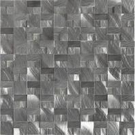 Structure Steel Gunmetal 1 x 1 3D Mosaic ST72