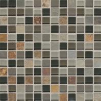 Slate Radiance Flint 1 x 1 Mesh-mounted Mosaic Blend SA55
