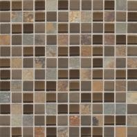 Slate Radiance Saddle 1 x 1 Mesh-mounted Mosaic Blend SA56