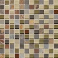 Slate Radiance Cactus 1 x 1 Mesh-mounted Mosaic Blend SA57