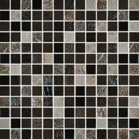 Uptown Glass Exotic Brown 1 x 1 Metro & Exotic Mosaic UP11