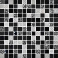 Uptown Glass Exotic Black 1 x 1 Metro & Exotic Mosaic UP12