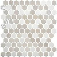 Uptown Glass Alabaster 1 Hexagon Mosaic UP17