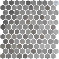 Uptown Glass Frost Moka 1 Hexagon Mosaic UP18