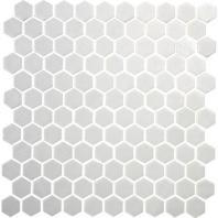 Uptown Glass Matte Alabaster 1 Hexagon Mosaics UP20