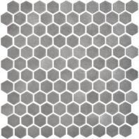 Uptown Glass Matte Frost Moka 1 Hexagon Mosaics UP21