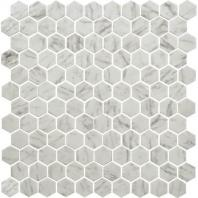 Uptown Glass Carrara 1 Hexagon Mosaics UP23