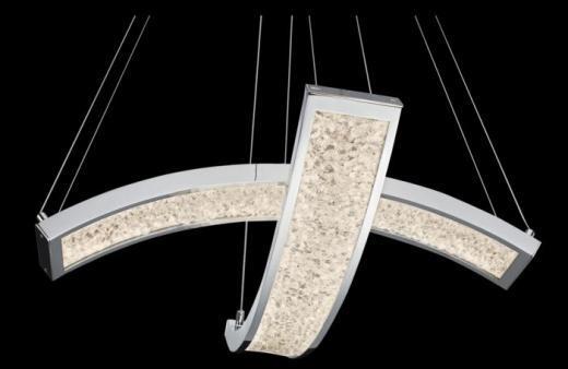Elan Crushed Ice 2-Light Pendant Light Model 83494