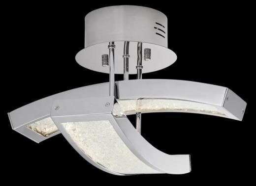 Elan Crushed Ice 2-Light Semi-Flushmount Model 83504