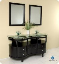 "Unico 63"" Double Bathroom Vanity Set With Mirror FVN3331ES"