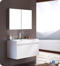 "Mezzo 39"" Bathroom Vanity Set With Medicine Cabinet FVN8010TK"