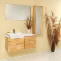 """Caro 36"""" Bathroom Vanity Set With Mirrored Side Cabinet FVN6163NW"""