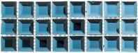Glasstile Kasbah Series Mediterranean Blue Backsplash Liner KS542