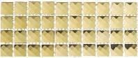 Glasstile Kasbah Series Golden Scarf Backsplash Liner KS444