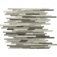 Soho Studio Stiletto Ice Nero Aluminum Metal Tile ALUSTILNERO