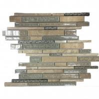 Soho Studio Art Glass Botanical Series Travertine Crushed Glass Backsplash AGBTTRAV