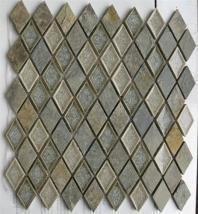 Soho Studio Art Glass Rustic Series Slate Diamond Crushed Glass Backsplash ARTGDIAMRUST
