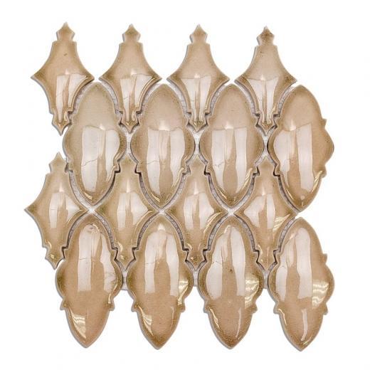Soho Studio Baroque Ornate Series Firma Crushed Glass Tile