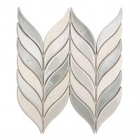 Soho Studio Baroque Floret Series Grigio Chevron Glass Tile