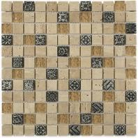 Soho Studio BDA Series Silver Deco 1x1 Mosaic Backsplash