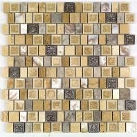 Soho Studio Bijou Series Oakwood Manor Crackled Glass Mosaic