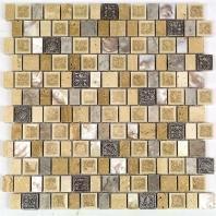 Soho Studio Bijou Series Oakwood Manor Crackled Glass Mosaic