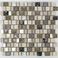 Soho Studio Bijou Series Rocky Coast Crackled Glass Mosaic