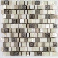 Soho Studio Bijou Series Silver Moon Crackled Glass Mosaic