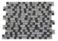 Soho Studios Broken Edge Series w/ Carrera and Bardiglio Marble Backsplash Tile