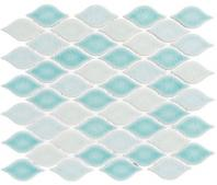 Cloud Series Sea Breeze CLD495 Porcelain Backsplash