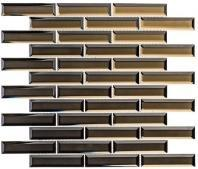 Mystique Series Cedar Myst MQS367 1x4 Glass Subway Tile