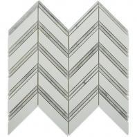 Soho Studio Chevron Series Weave Thassos with Bianco Carrera Marble Tile