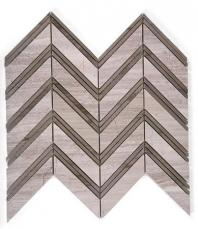 Soho Studio Chevron Series Wooden Beige with Athens Gray Marble Tile