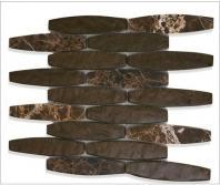 Soho Studio Cosmopolitan Series Igneous Cocoa Marble Backsplash
