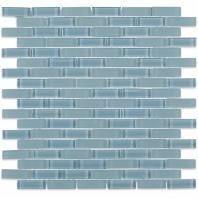 Soho Studio Crystal Series Blue Gray 1/2 x 2 Brick Glass Tile