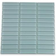 Soho Studio Crystal Series Blue Gray 1x4 Stack Glass Tile