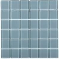 Soho Studio Crystal Series Blue Gray 2x2 Polished Glass Tile
