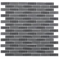 Soho Studio Crystal Series Cement 1/2 x 2 Brick Glass Backsplash