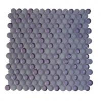 Soho Studio Crystal Series Grape Ice Penny Rounds Glass Backsplash